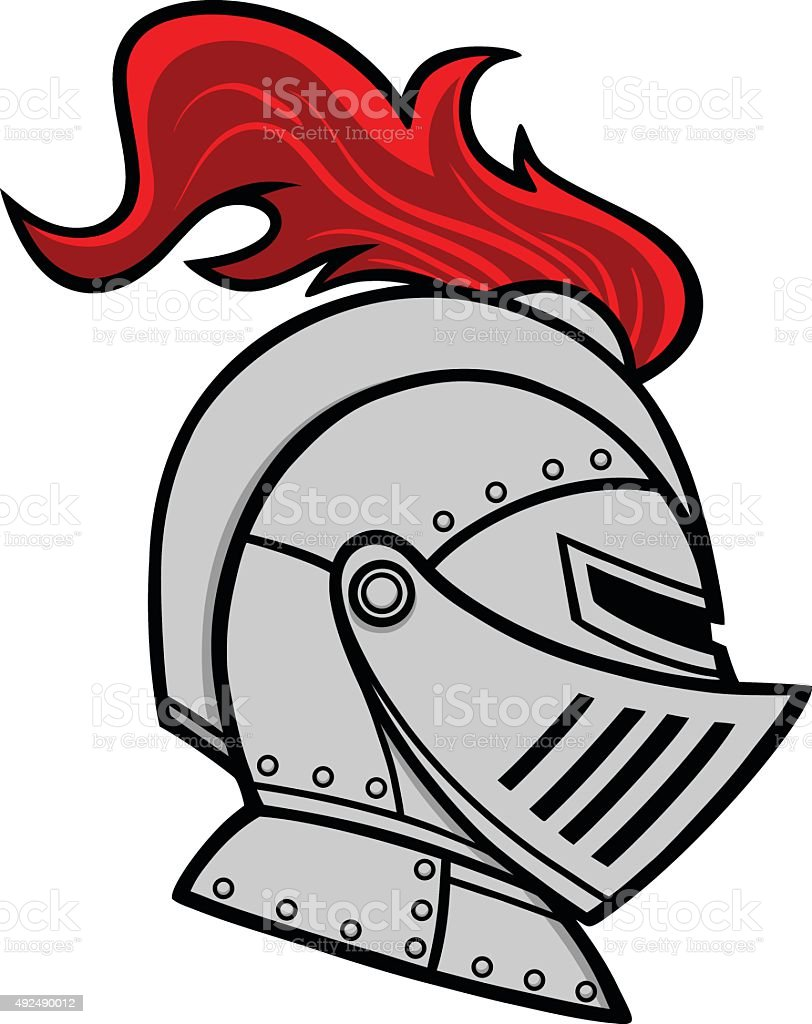 royalty free cartoon of knight helmet clip art vector images rh istockphoto com knight clip art coloring knight clipart vector