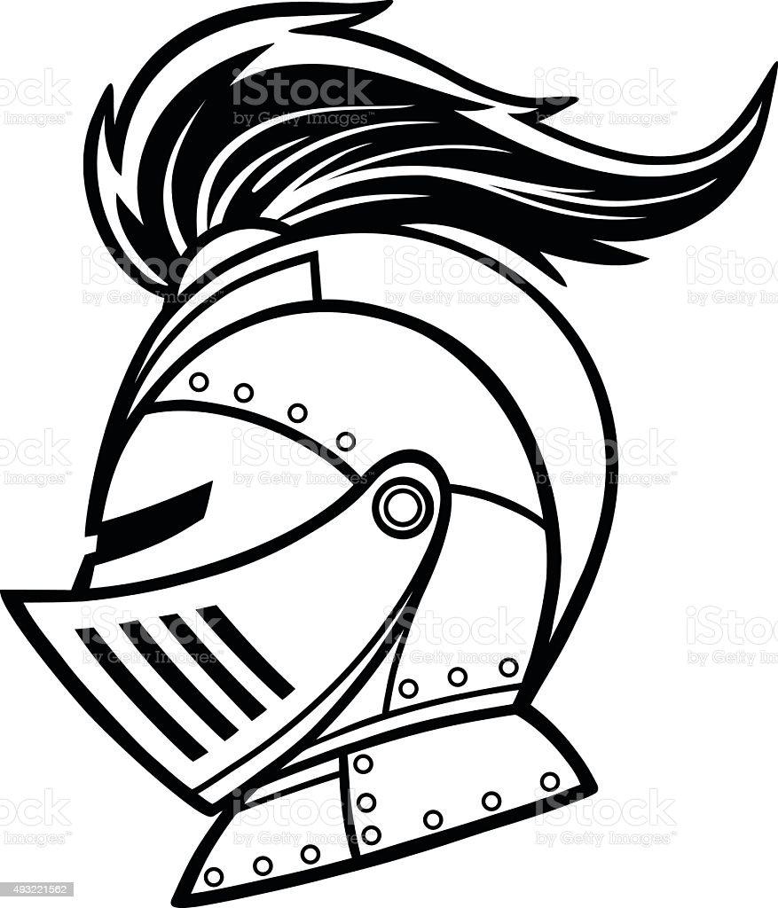 Knight Lineart vector art illustration