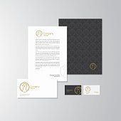 Chess Knight logo design with business cards