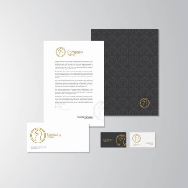 Conception de logo de chevalier - Illustration vectorielle