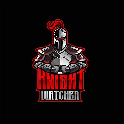 Knight mascot logo design, Sport logo