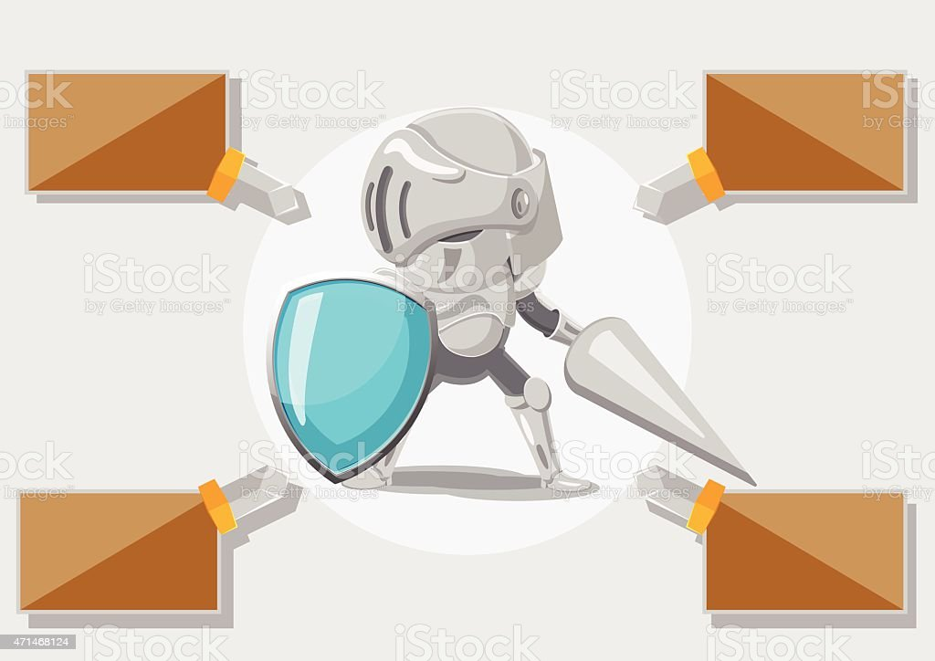 Knight Secuilty Protact  Guard Safe Vector vector art illustration