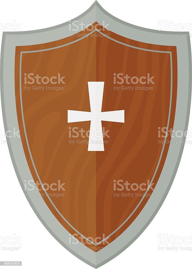 Knight shield vector illustration vector art illustration