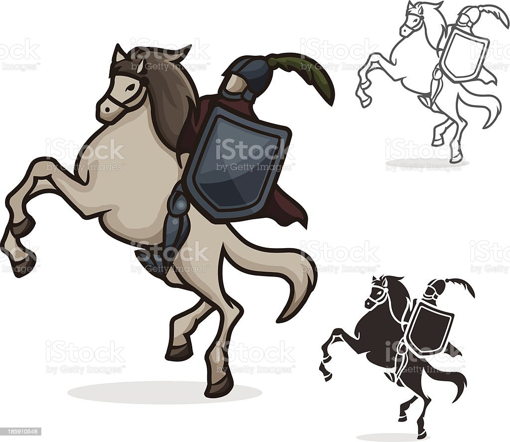 Knight royalty-free stock vector art