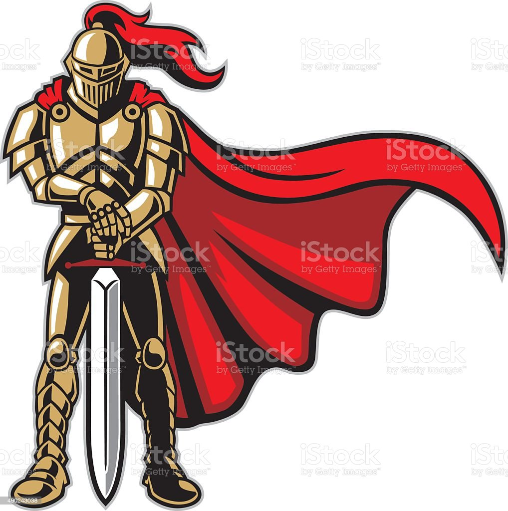 royalty free knights in armor clip art vector images rh istockphoto com night clip art knight clipart images