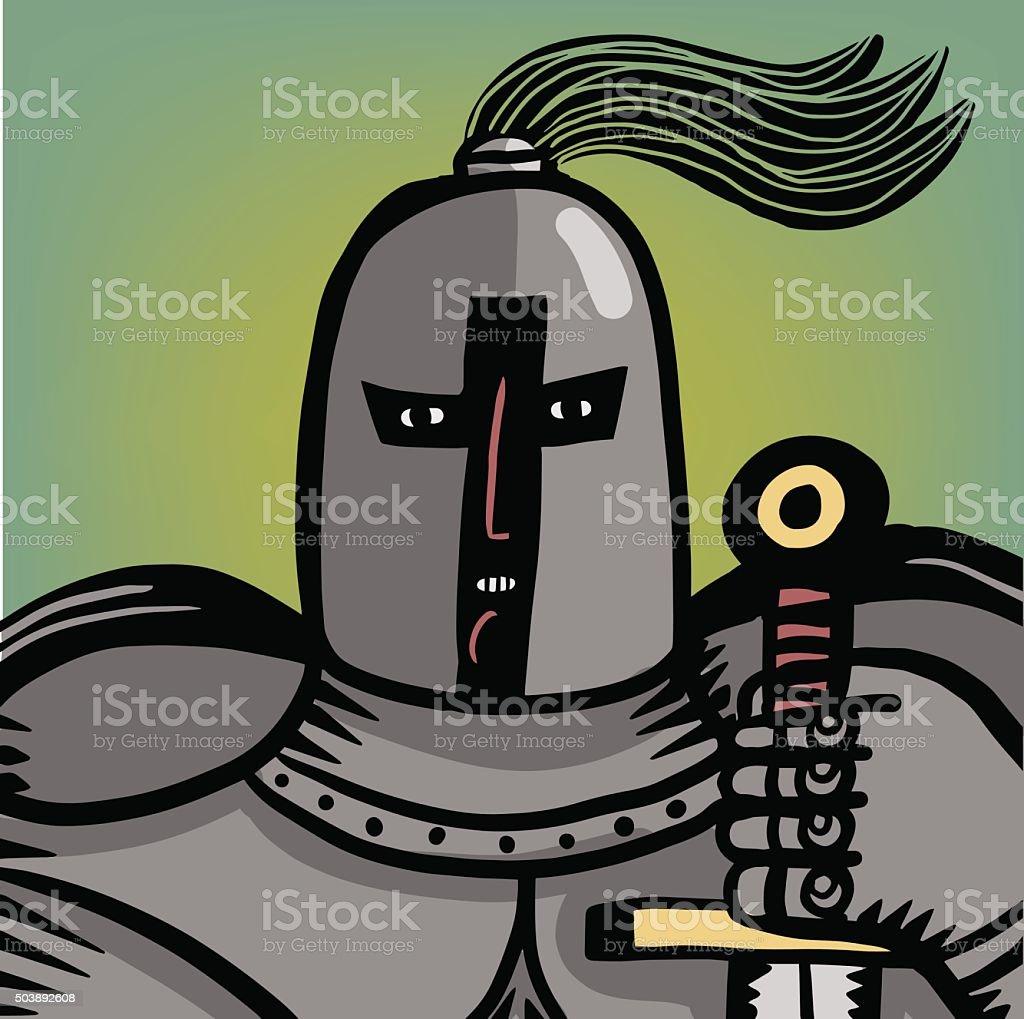 Ilustración de Knight Con Armadura y más banco de imágenes de Acero ...