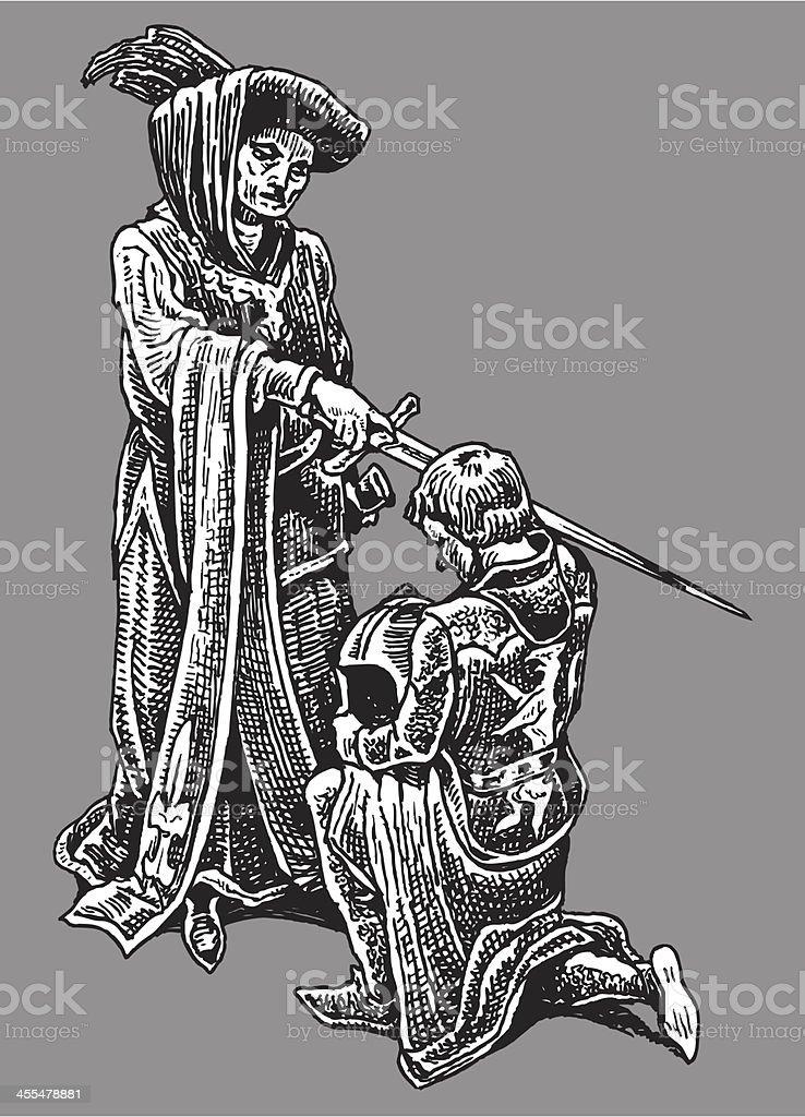 Knighting - Medieval Knight