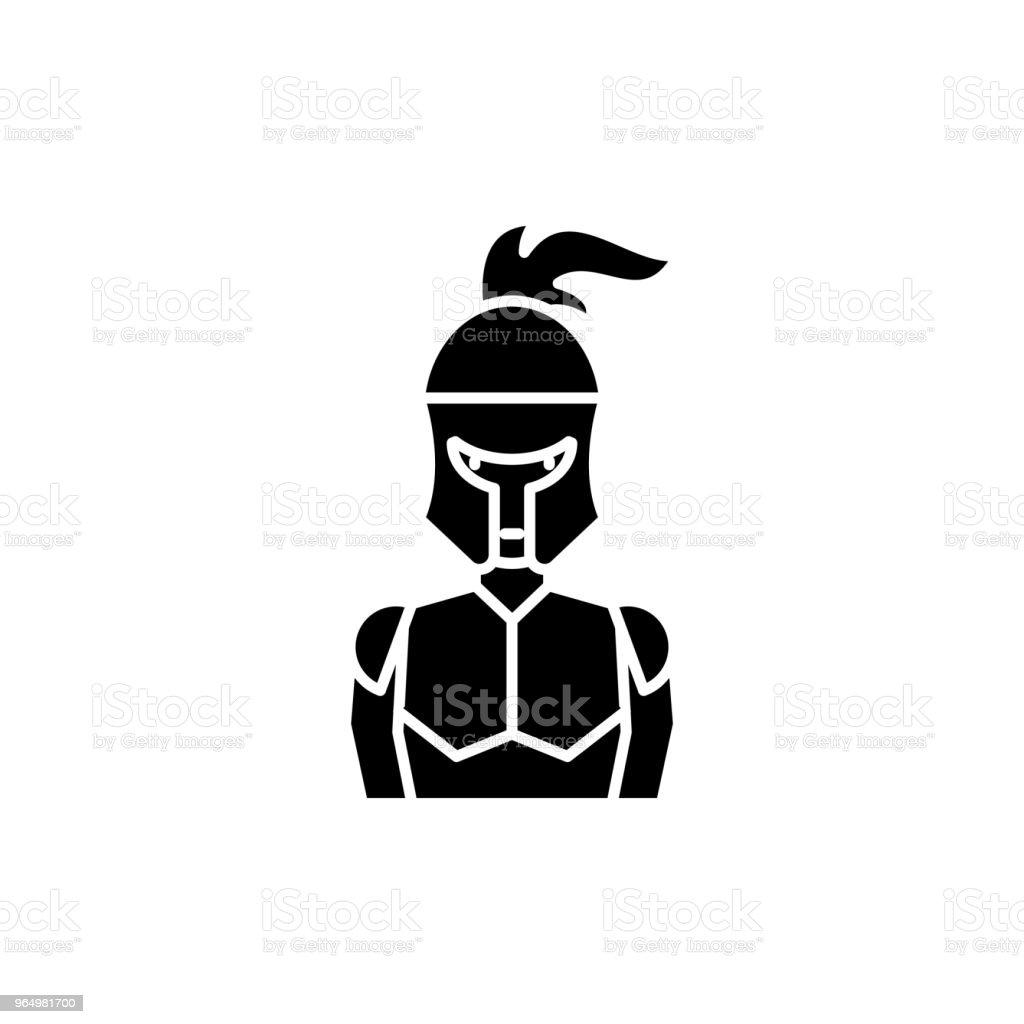 Ilustración de Concepto De Icono Negro De La Armadura Del Caballero ...