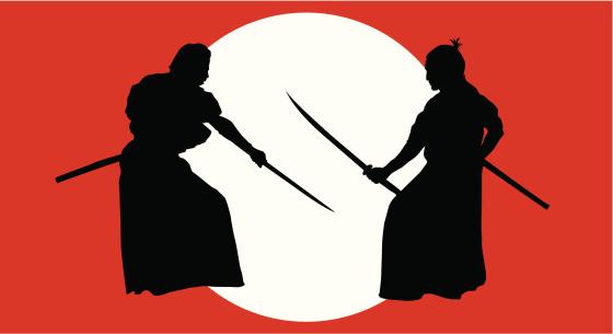 Knights of Japan or  Samurai ( Vector )