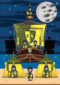 istock Knights on Medieval Galleon Beach Scene 165801628