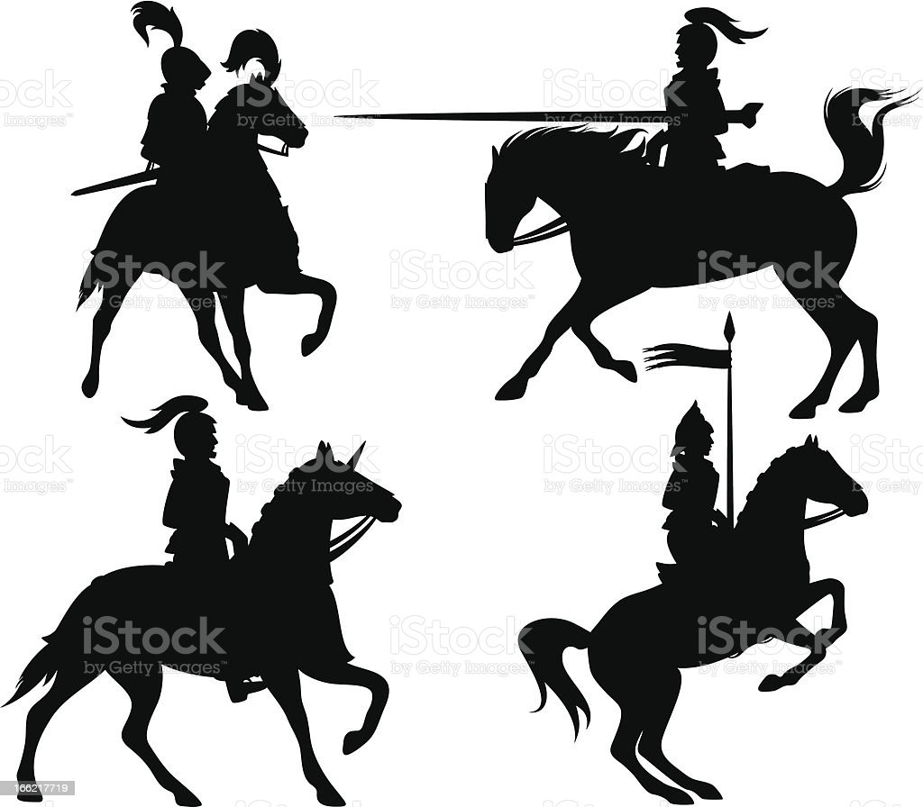 knights silhouettes