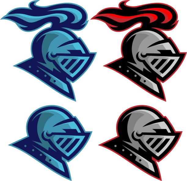 knights sports pack - knight in shining armor stock illustrations, clip art, cartoons, & icons