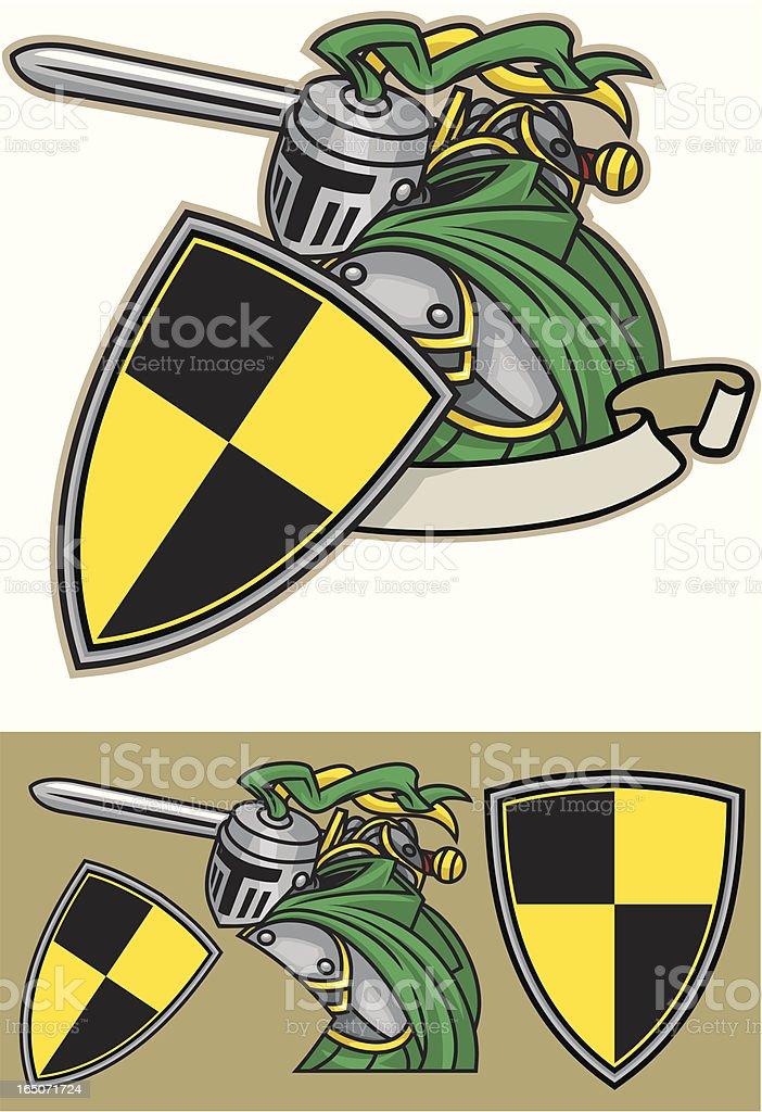 Knights Tale vector art illustration