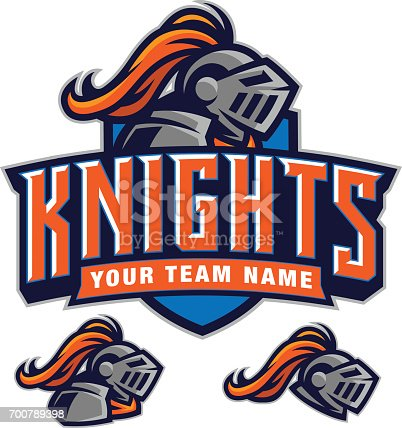 This knight team kit is a great addition to any sports team or organization. It was created with all separate elements making customization a snap.