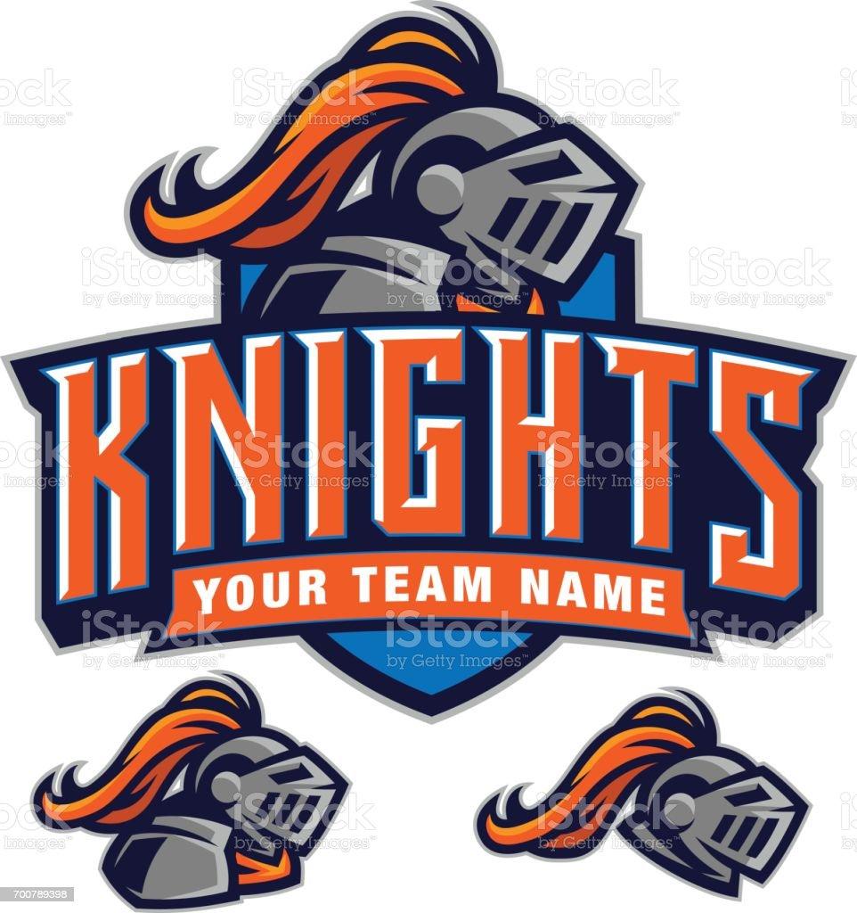 Knights team kit vector art illustration