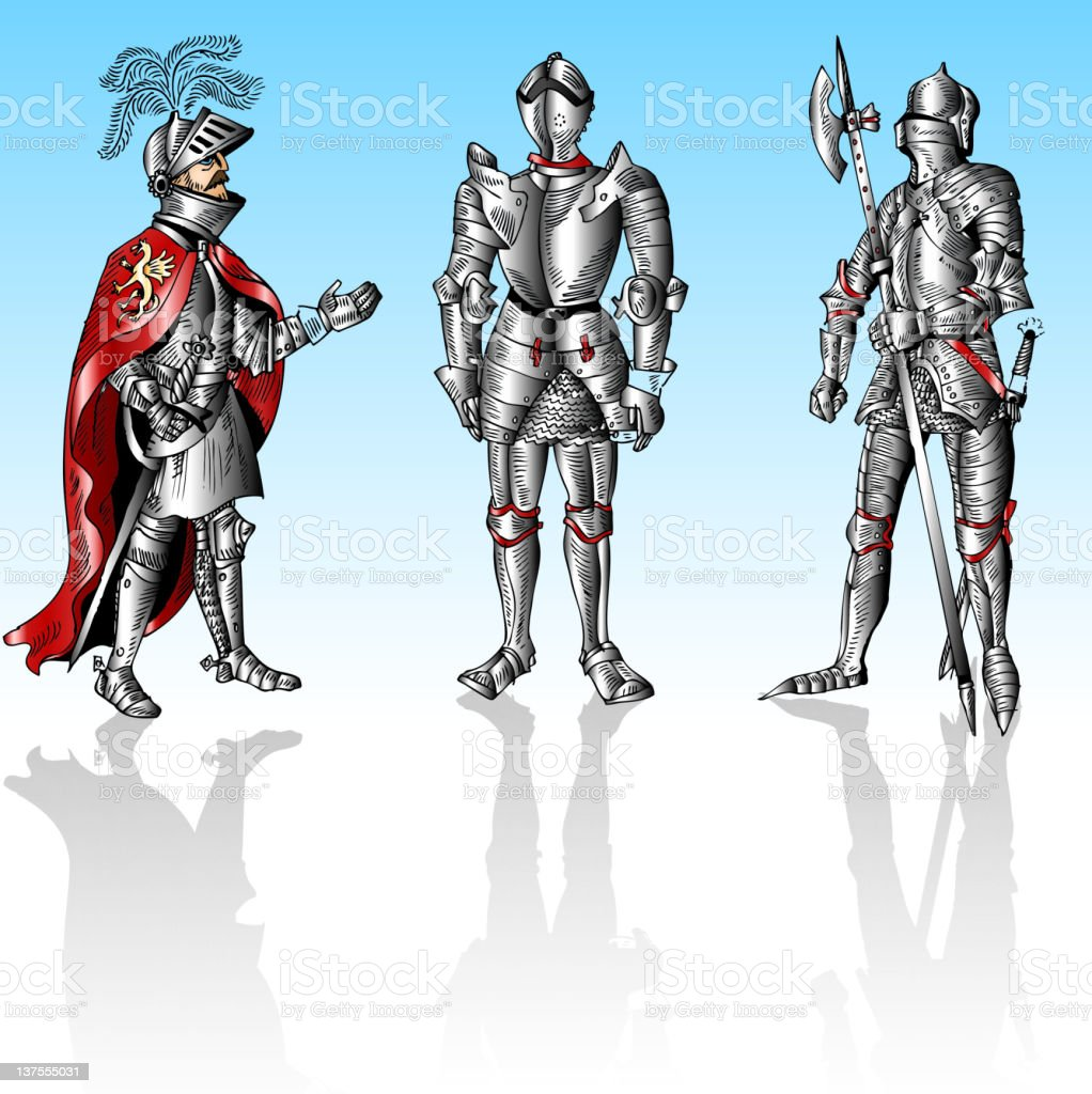 Knights royalty-free stock vector art