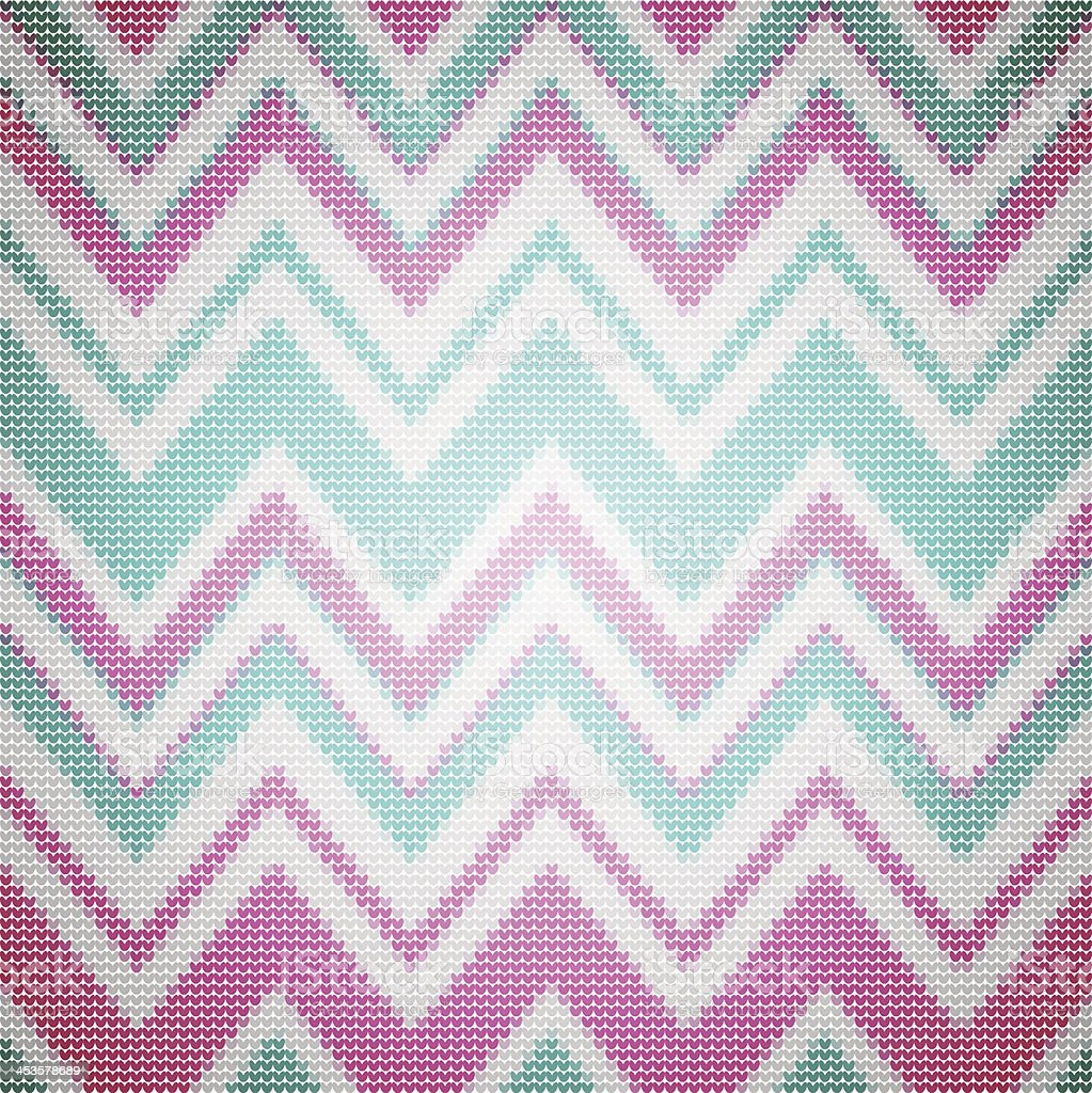 Knit Chevron Pattern Stock Vector Art & More Images of Abstract ...