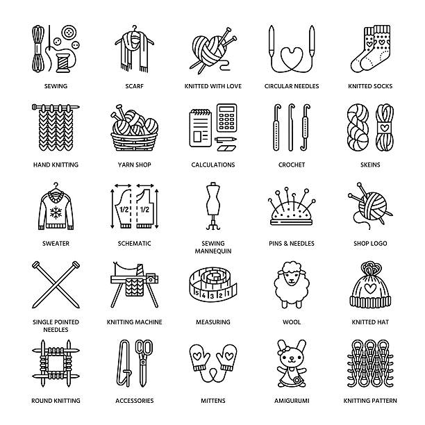 Best Crochet Illustrations, Royalty-Free Vector Graphics