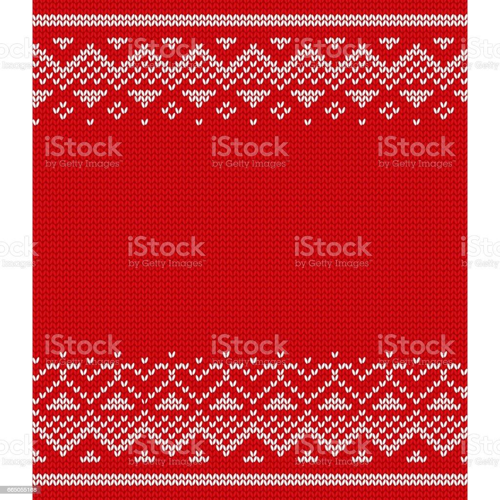 Knit design. Seamless pattern. Vector knitting texture.
