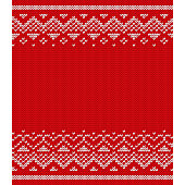 Knit design. Seamless pattern. Vector knitting texture.