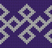 Knit design. Seamless pattern. Vector knitting texture