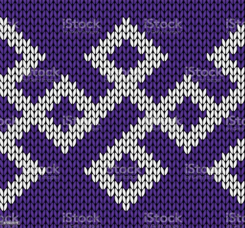 Diseño de punto. De patrones sin fisuras. Textura de punto del vector - ilustración de arte vectorial