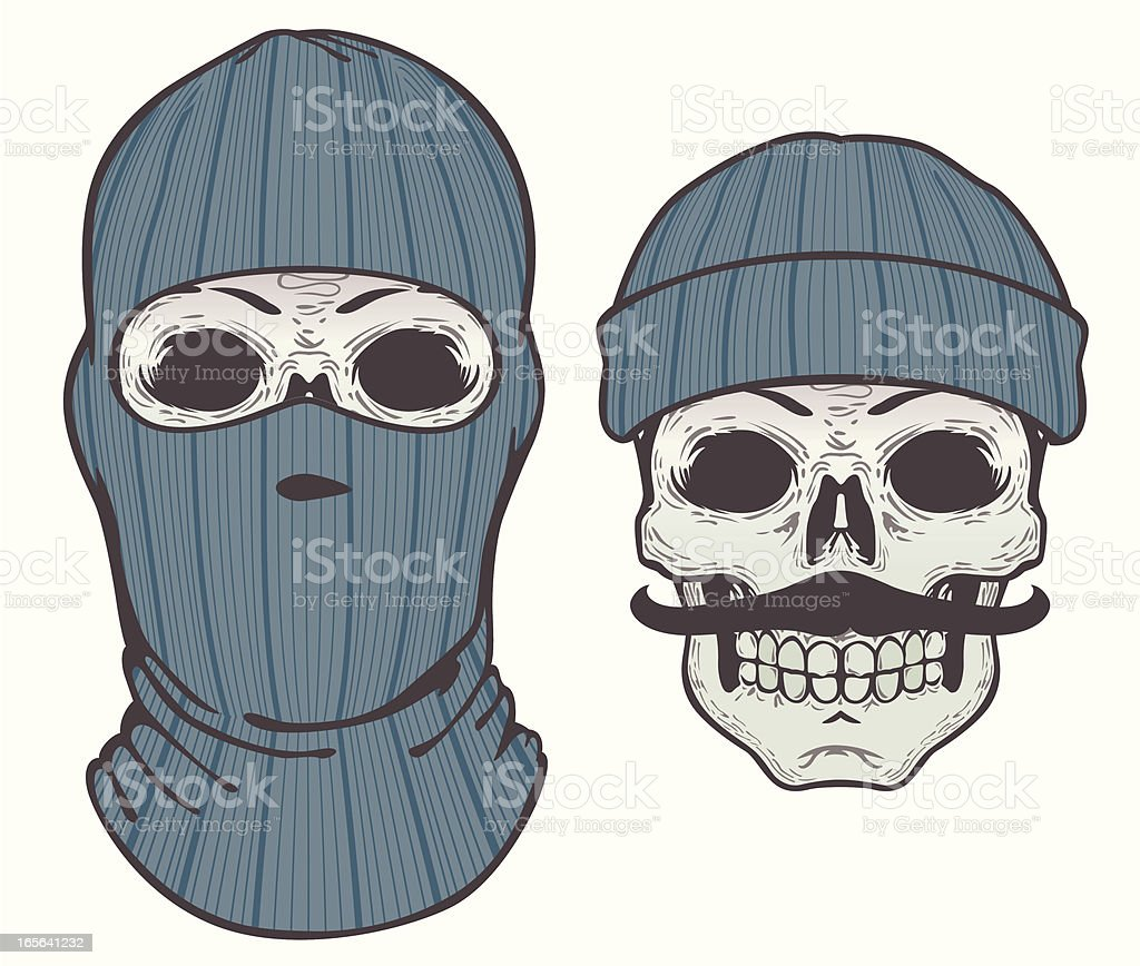knit face mask - up or down vector art illustration