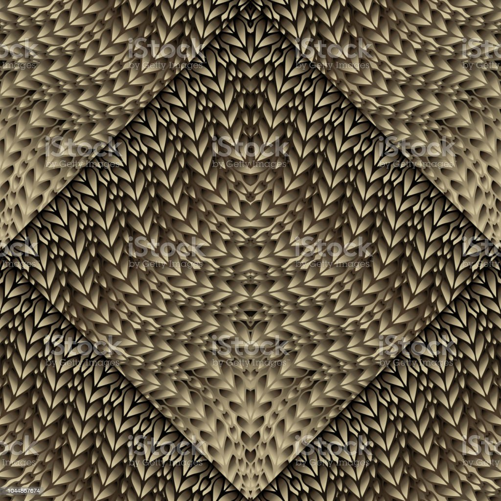 728f95057 Knitted 3d seamless pattern. Ornamental knitting textured background.  Modern geometric braided ornaments with patterned