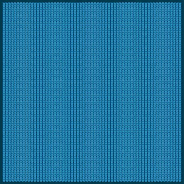 gestrickte blauem hintergrund - wollteppich stock-grafiken, -clipart, -cartoons und -symbole