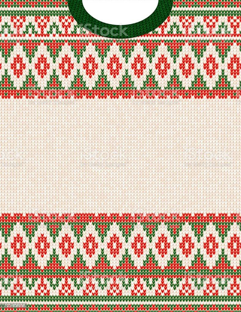 Ilustración de Patrón Punto En Navidad Adorno Tribal Feo Suéter ...