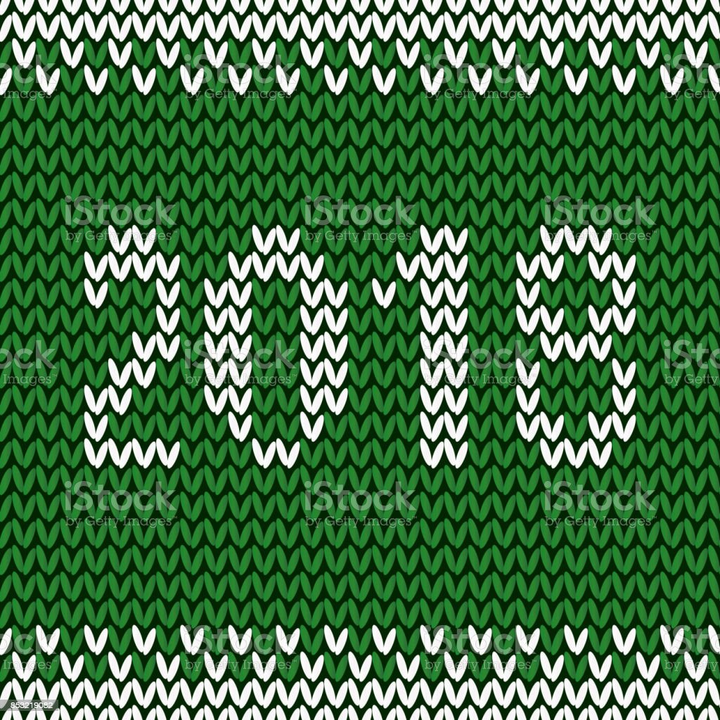 knitted christmas background happy new year 2018 new year seamless knitted pattern with number