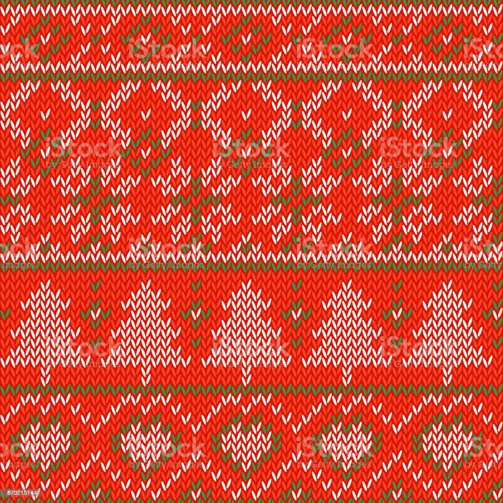 Knitted Christmas Background Seamless Pattern Nordic Background With ...