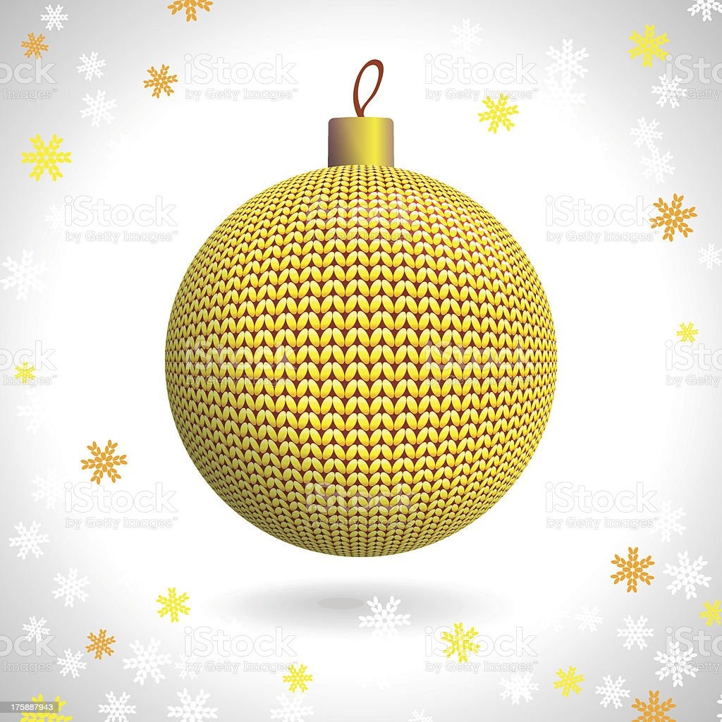 Knitted Christmas Ball royalty-free stock vector art