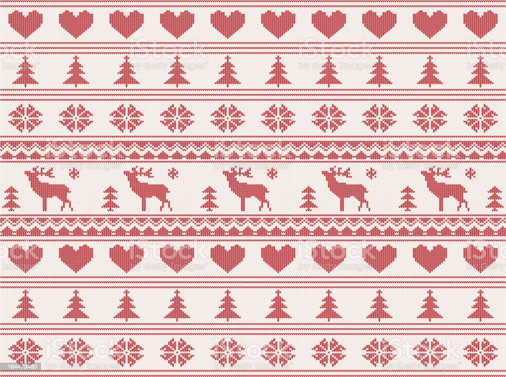 knitted christmas pattern royalty-free stock vector art