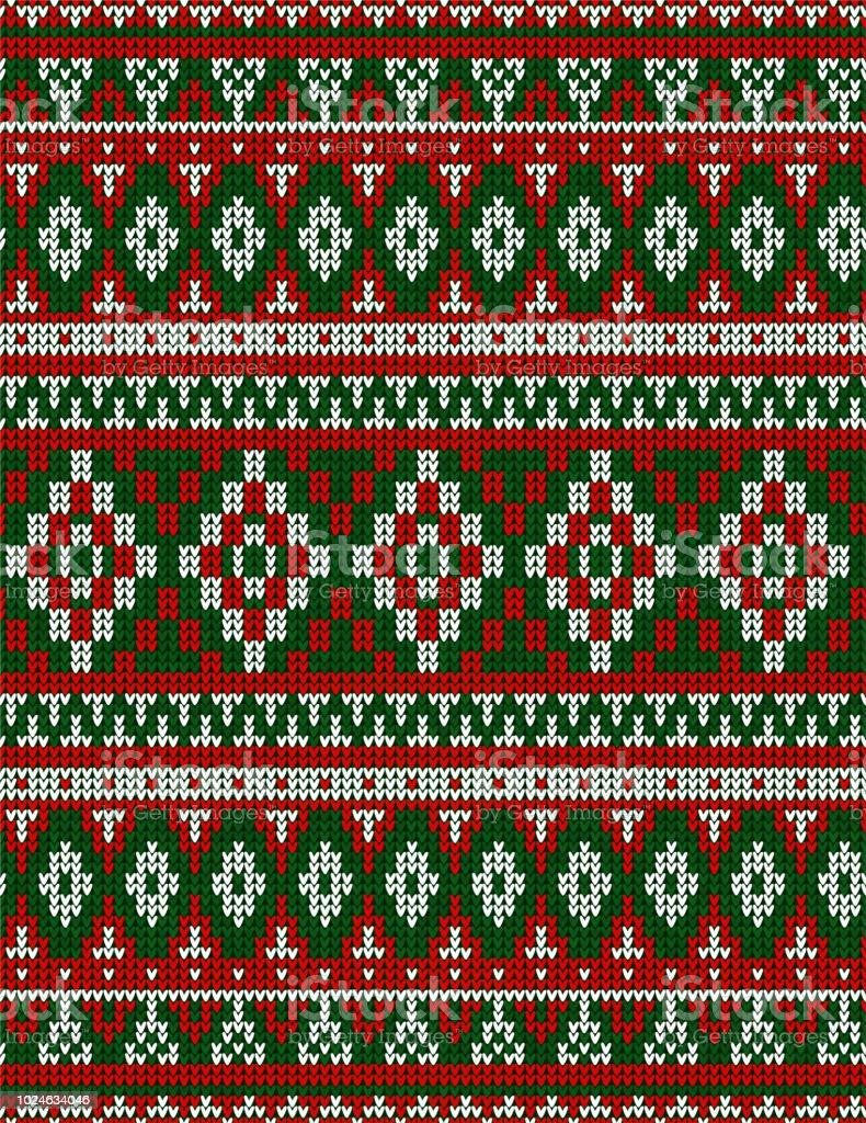 Weihnachten Teppich Tribal Ornament Nahtlose Strickmuster Ethnische ...