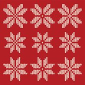 Knitted Christmas design elements, ideal for use in your festive design project or to create a background for an invitation. This set of 'woollen' snowflakes could easily be turned into a repeating pattern and the scalable eps10 file can be used at any size without loss of quality.
