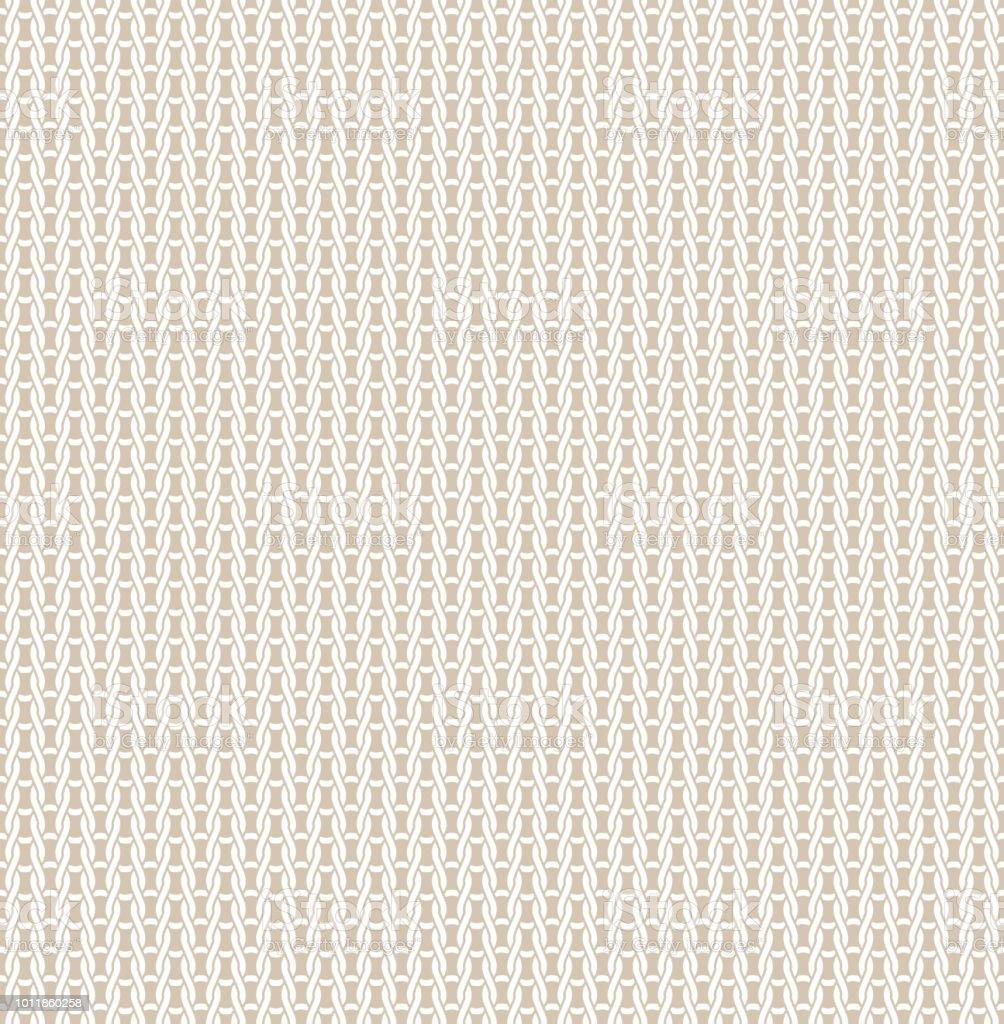 Knitted Fabric Seamless Pattern Light Beige Knitting ...