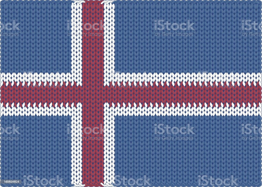 Knitted Flag - Iceland royalty-free stock vector art