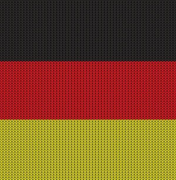 ドイツのニットの旗 - ドイツの国旗点のイラスト素材/クリップアート素材/マンガ素材/アイコン素材