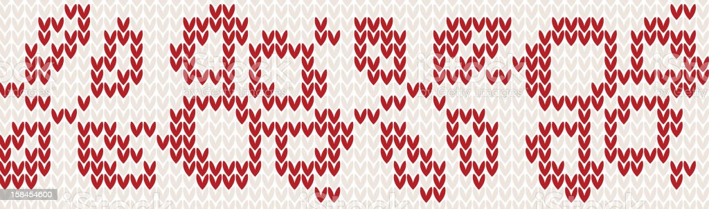 Knitted pattern royalty-free stock vector art