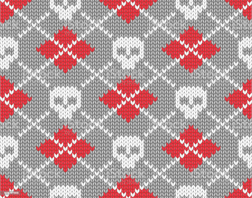 Knitted pattern with skulls royalty-free stock vector art
