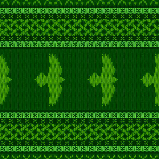 Punto ornamento nacional céltico. Raven con las alas extendidas - ilustración de arte vectorial