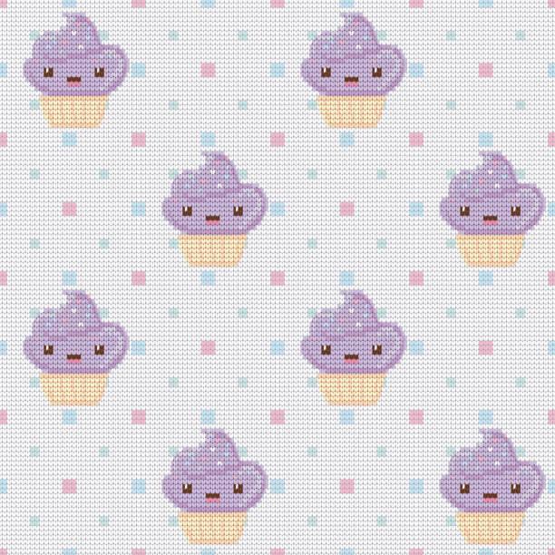Vectores de Lindo Patrón Continuo Con Pastelitos Cupcakes y ...