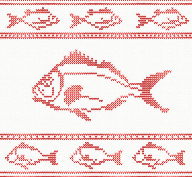Vectores de Patrones De Pescado De Ganchillo y Illustraciones Libre ...