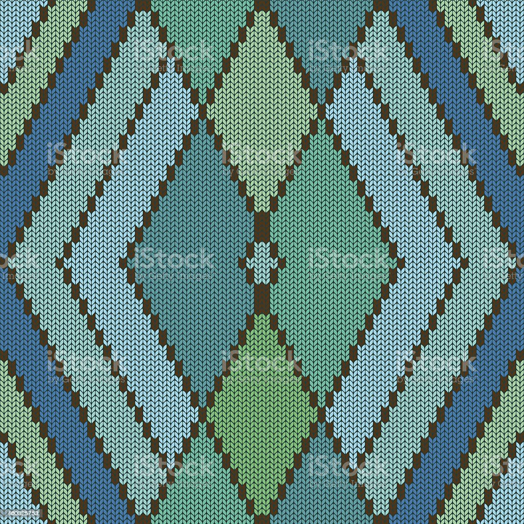 Knitted seamless pattern with rhombus royalty-free stock vector art