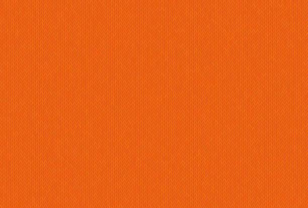 ilustrações, clipart, desenhos animados e ícones de textura sem costura de malha, tom alegre e despreocupada de russet laranja. - texturas de tecido