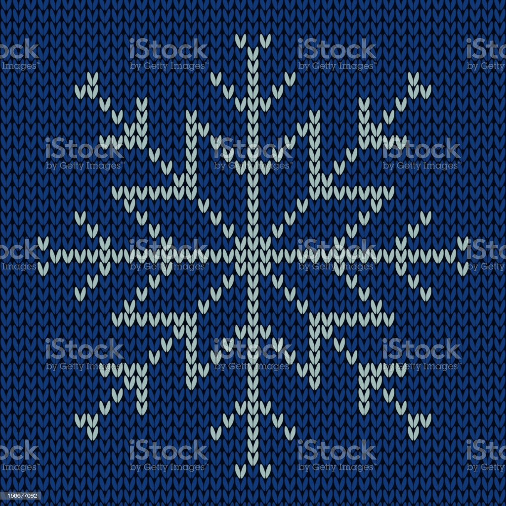 Knitted snowflake. Seamless background. royalty-free stock vector art