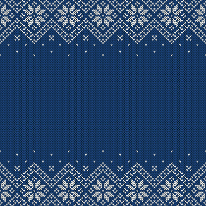 Knitted sweater background with copyspace. Vector seamless pattern.