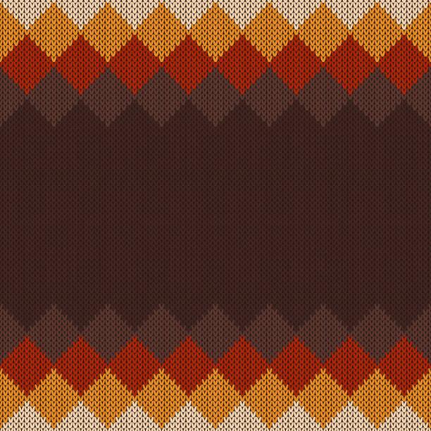 ilustrações, clipart, desenhos animados e ícones de camisola de malha padrão. textura imitação de malha de lã. plano de fundo sem emenda com um lugar para texto - moda de inverno