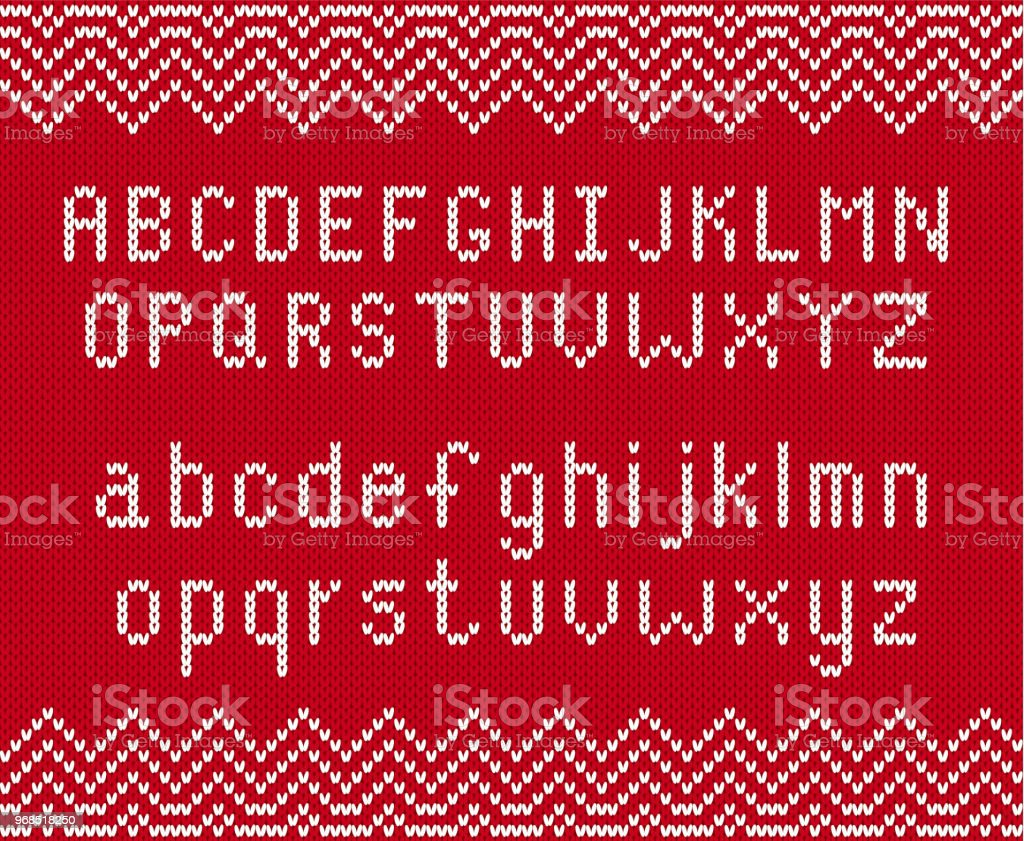Knitted Textured Background With Alphabet Knit Geometric Ornament ...